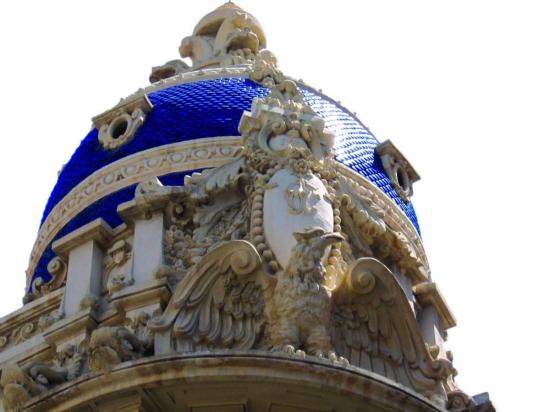 Casa Cabot Jubany en Albacete Cúpula modernista de la Casa Cabot Jubany