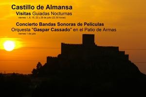 Visitas nocturnas al castillo de Almansa 2011