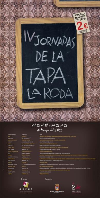 IV Jornadas de la Tapa de La Roda 2012
