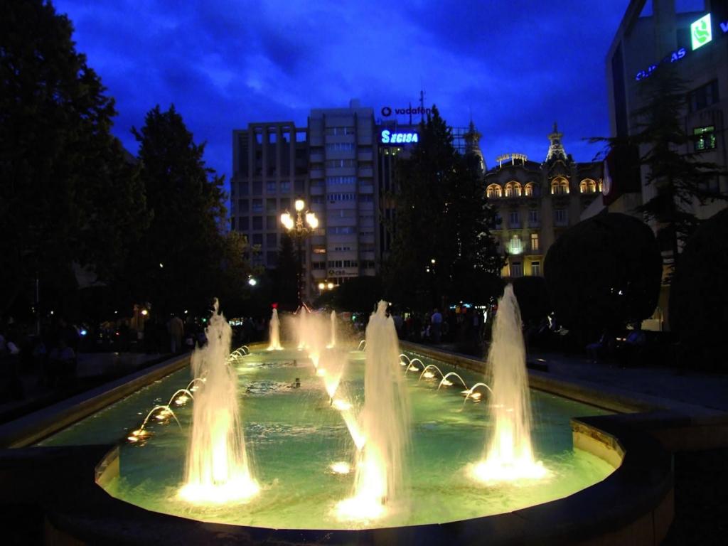 Altozano at night