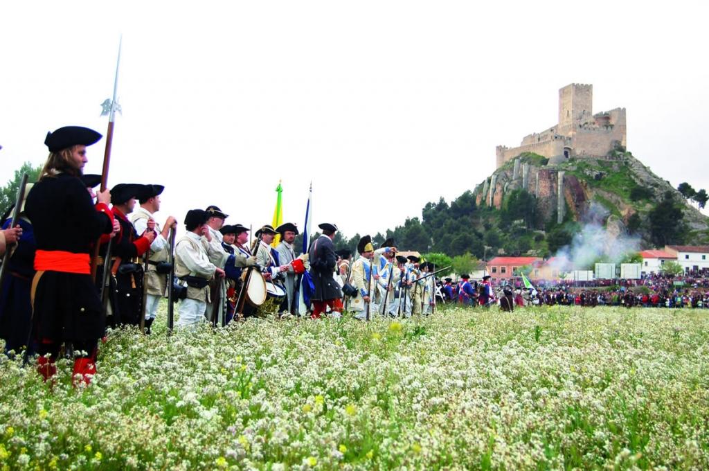 Recreación de la batalla de Almansa